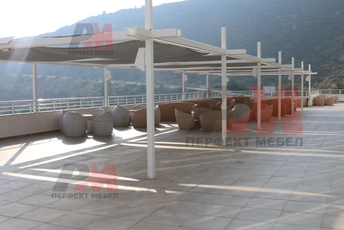 Ратанови мебели от ратан слонова кост