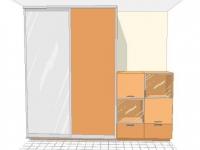 Двукрил гардероб с плъзгащи врати