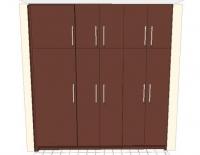 Петкрилен вграден гардероб