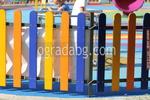 цветни дървени огради за детска площадка