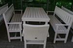 фирма за битови маси с две пейки и един стол от масив