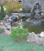 dekorativen Wasserfall